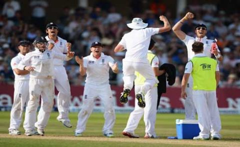 England hold grip on the first match with late wickets