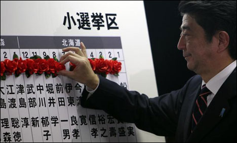 Olympics:Abe vows support for Tokyo bid