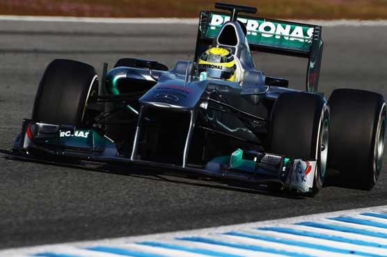 Mercedes' Rosberg closes F1 tests with fastest lap