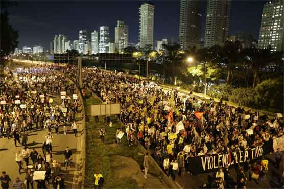 100K protesters flood Brazilian streets in protest