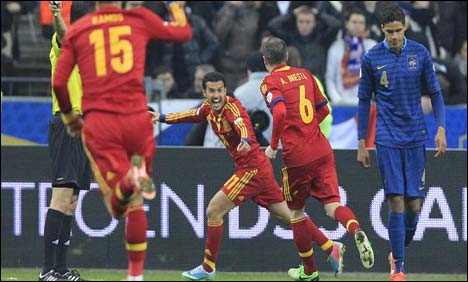 Spain win 1-0 against France in WC qualifier