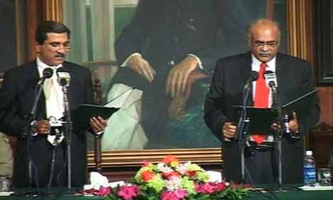 Najam Sethi takes oath as caretaker CM Punjab