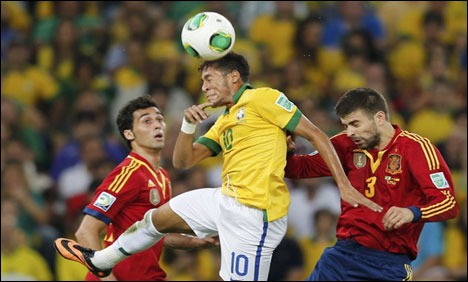 Clashes as Brazil trounce Spain in Confederations Cup final
