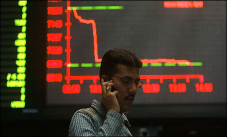 KSE sheds 332 points as global tumble weighs