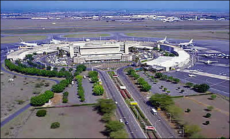 Large fire in Kenyan capital's main airport: ministry