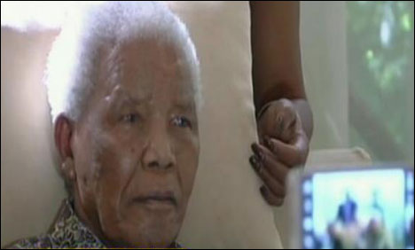 Mandela spent a first night back home after discharged from hospital