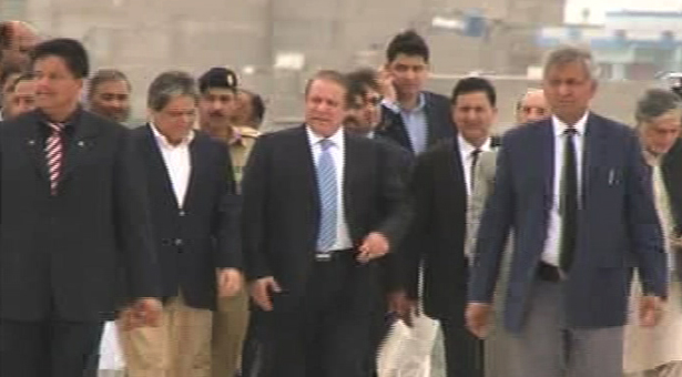 PM Nawaz Sharif arrives in Karachi