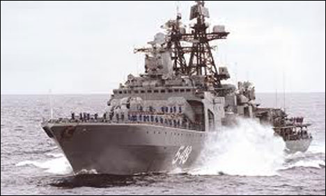 Russia sends warship with 'special cargo' toward Syria: navy source