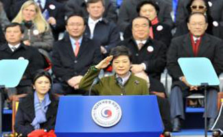 South Korea swears in first female president