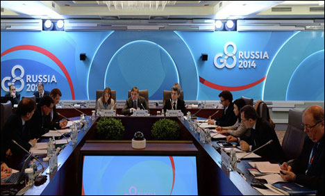 Russia suspended from G-8 over crimea annexation