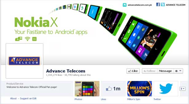 Advance Telecom gets one million likes on Facebook