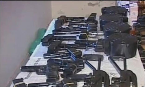 Police seize vehicle laden with arms, ammunition