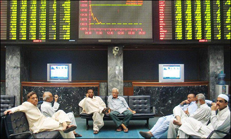KSE-100 index down to 21, 583, shed by 111 Monday morning