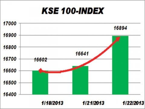KSE gains 253 points on strong earnings outlook