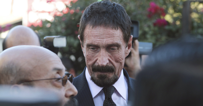 Tech guru McAfee's legal appeals win him respite in Guatemala