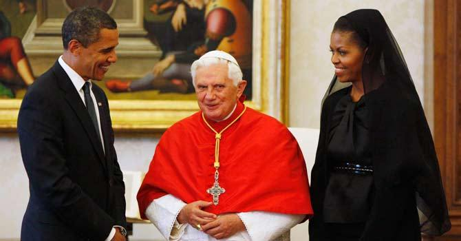 Obama extends thanks, prayers to departing pope