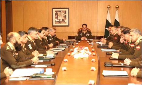 COAS Sharif chairs corps commanders conference today