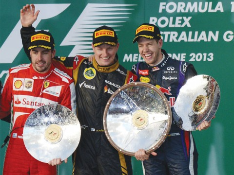 Raikkonen upstages big rivals to win Aussie GP