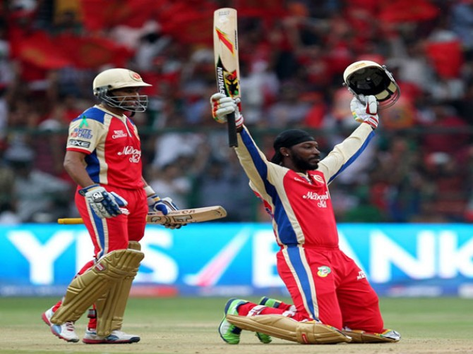 Records Gayle-ore inBangalore