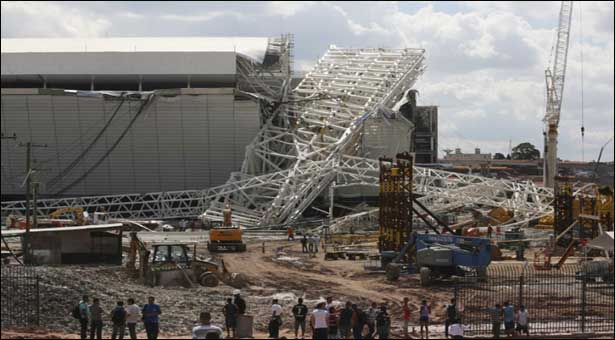 Two dead in Brazil World Cup stadium accident - police