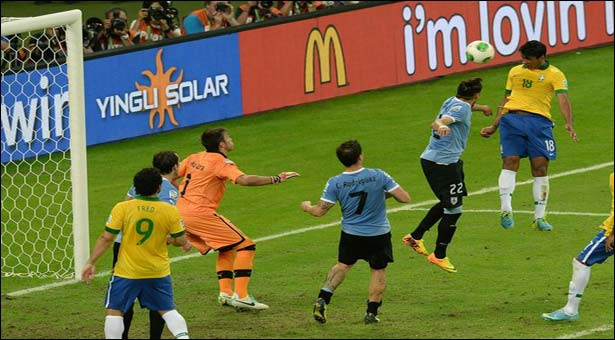 Brazil in Confed Cup final edging past Uruguay