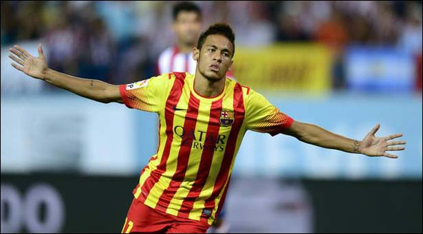 Neymar opens account for Barca in Spanish Super Cup