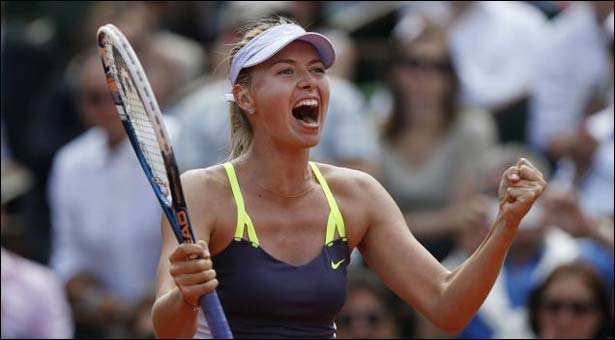 Second consecutive French Open final for Sharapova