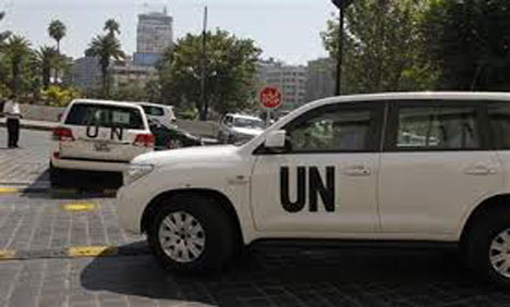 Syria UN inspectors say analysis may take up to three weeks
